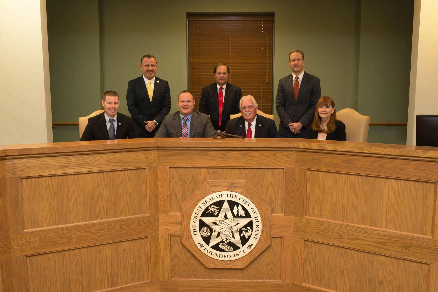 Durant City Council Sitting in City Hall