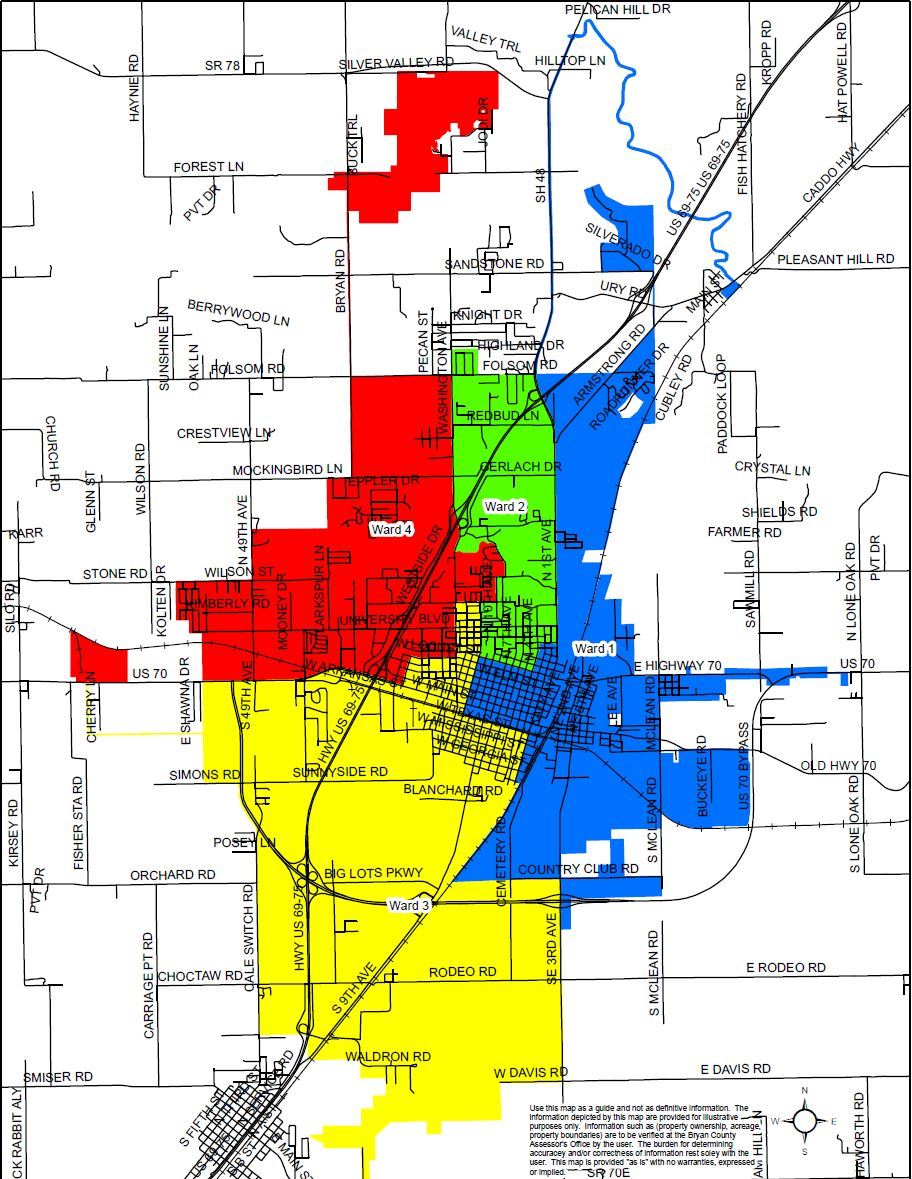 Map of Wards in Durant OK