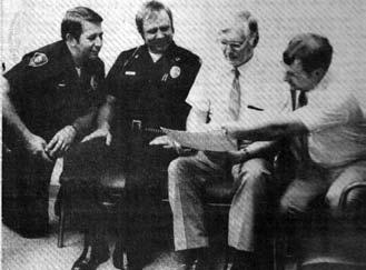 Police Officers Speaks With Fellow Reserve and Administration Planning a Second Reserve Academy - Circa 1982